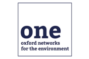 White logo with navy words 'one: oxford networks for the environment'