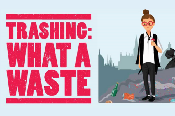 Trashing campaign visual