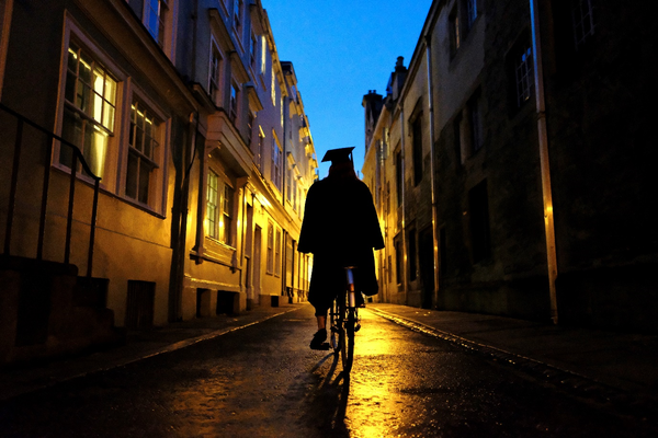 Student on a bike, Hermione Grassi