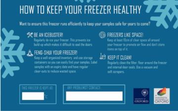 Freezer stickers